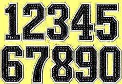 画像2: ワッペン(角) 背番号ラインストーン付き(一文字)