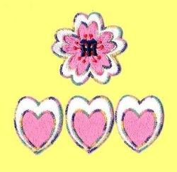 画像2: ワッペン 桜(丸)