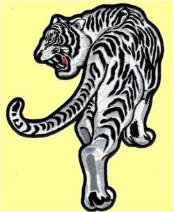 画像2: ワッペン 見返り虎 左向き 大