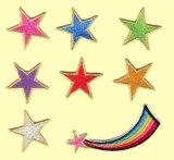 ワッペン 流れ星と星7個入り